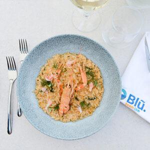 Blu Beach Crab and Langoustine Risotto