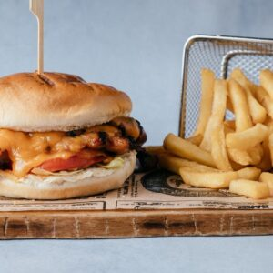 blu beach chicken burger
