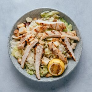 blu beach chicken caesar salad