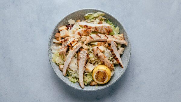 blu beach chicken caesar salad