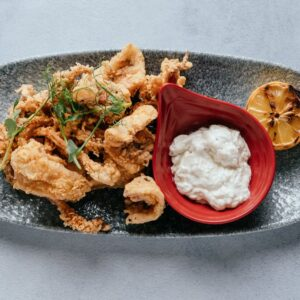 blu beach crusted calamari