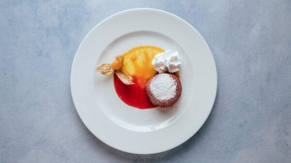 blu beach dessert red lava cake