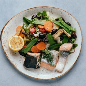 blu beach fresh salmon salad