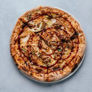 blu beach pizza pulled pork